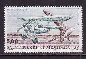 St Pierre & Miquelon-Sc#C66-unused NH airmail set-Planes-Birds-Flying Flea-1990-