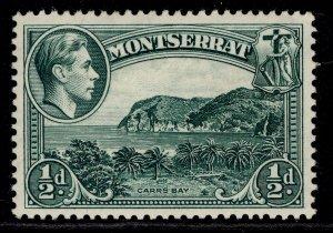 MONTSERRAT GVI SG101, ½d blue-green, M MINT. PERF 13