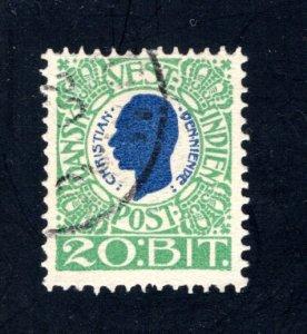 Danish West Indies #33,  F,  Used,   CV $8.75 ....1630031
