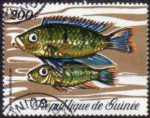 Guinea 581 - Cto - 200fr Fish (1971) (cv $2.80)