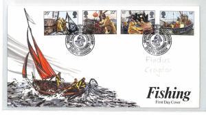 BM373 1981 GB Scotland Aberdeen Fishing FDC {samwells-covers} PTS