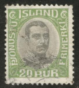 Iceland Scott o45 1920-30 official engraved center used