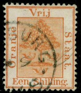 SOUTH AFRICA - Orange Free State SG8, 1s orange-buff, FINE USED.