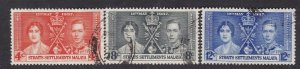 STRAITS SETTLEMENTS  ^^^^^1935  used  OMNIBUS SET $$@lar3235stt