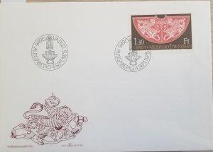 J) 1975 LIECHTENSEIN, CORONATION ROBE, FDC