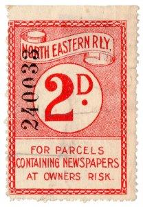 (I.B) North Eastern Railway : Newspaper Parcel 2d