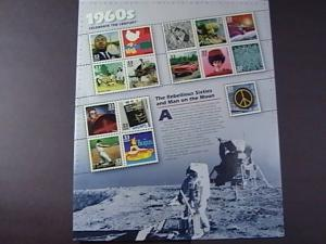 U.S.#3188-MNH-- PANE OF 15 STAMPS-CELEBRATE THE CENTURY THE 1960'S----1999