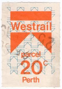 (I.B) Australia - Queensland Railways : Parcel Stamp 20c (Perth)