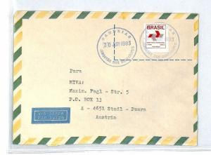 BRAZIL Cover *Candeias* Air Mail MIVA Missionary 1993 AUSTRIA {samwells} CM199