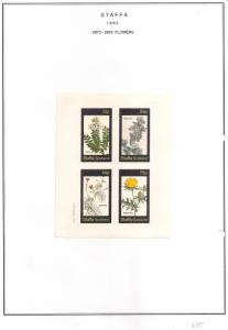 SCOTLAND - STAFFA - 1982 - Flowers #39 - Imperf 4v Sheet - MLH