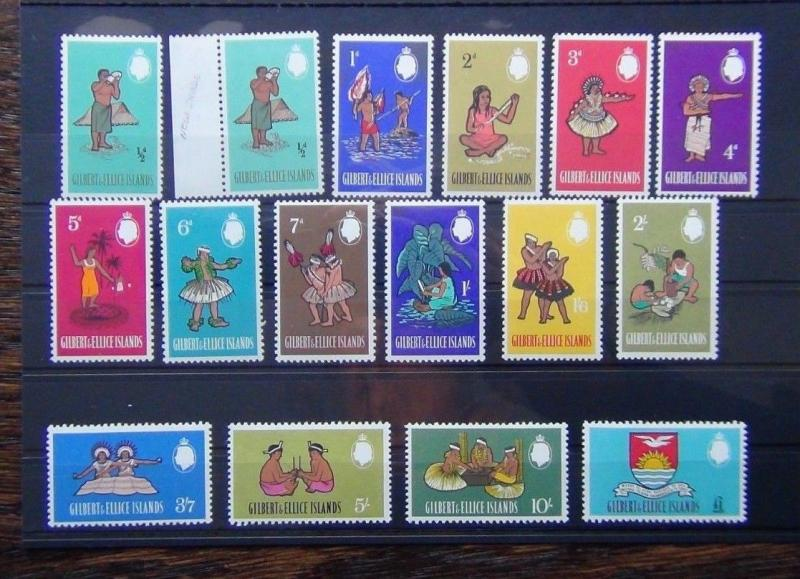 Gilbert & Ellice Islands 1965 set to £1 LMM SG89 - SG103