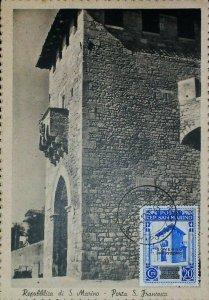 Porta San Francesco San Marino 1943 su Cartolina Vintage Old Postcard 13848