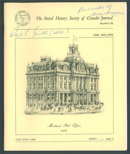 The Postal History Society of Canada Journal No. 25