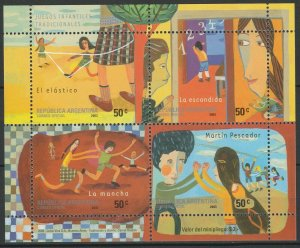 Argentina 2003 Traditional Children's Games MNH Sheet