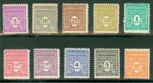 FRANCE #475-76H Complete set, og, NH, VF, Scott $29.75