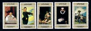[42683] Yemen 1967 Spanish painters Goya Ribera Murillo  MNH