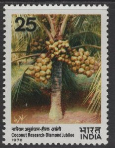 INDIA SG835 1976 DIAMOND JUBILEE OF COCONUT RESEARCH MNH