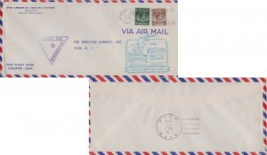 Singapore Straits Settlements 50c and 5c KGVI 1941 Singapore Don't Write Abou...