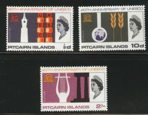 Pitcairn Islands Scott 64-66 MH* stamp set