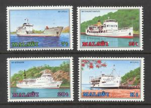 Malawi Sc# 466-469 MNH 1985 7t-1k Ships on Lake Malawi