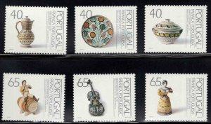 PORTUGAL Scott 1890-1895 MNH** Ceramic Art set