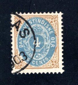 Danish West Indies #7,  VF,  Used  CV $19.00 ....1630007