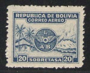 Bolivia 1928 Sc# C9 MH G/VG - Early air mail issue