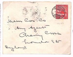 SUDAN Cover *El Obeid* GB London 1911 BE100