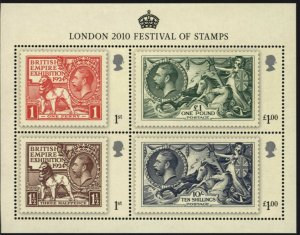 MS3072 2010 London Festival Of Stamps miniature sheet UNMOUNTED MINT/MNH