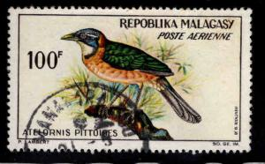 Madagascar Scott C73  Used 100fr Airmail stamp