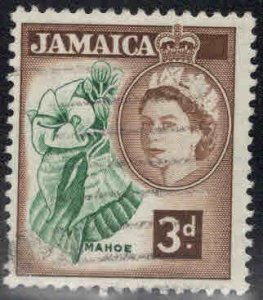 Jamaica Scott 163 used QE2 stamp