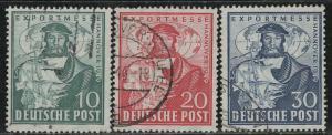 Germany AM Post Scott # 662 - 664, used