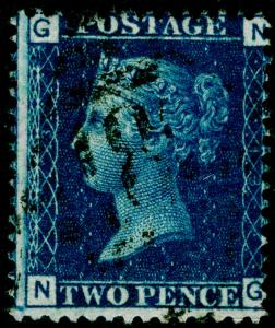 SG47, 2d dp blue PLATE 13, FINE USED. Cat £27. IRELAND. NG