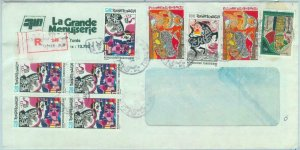 84470 - TUNISIA  - POSTAL HISTORY - Registered  AIRMAIL COVER to ITALY  1986