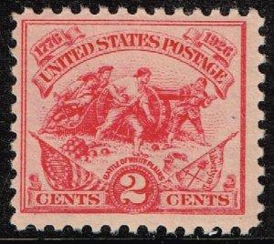 US STAMP  #629 – 1926 2c Battle of White Plains MNH/OG STAMP