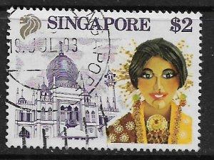 SINGAPORE, 581, USED, CHINESE OPERA SINGER