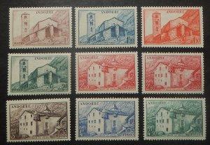 French  Andorra 85-104. 1944-47 1Fr-50Fr Pictorials