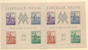 Germany (Soviet Zone), MI:162C-65C,Blk5Yab.Sheets(4) **MNH**
