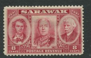 Sarawak -Scott 155 - Brooke Portraits- 1946 - Mint - Single 8c Stamp