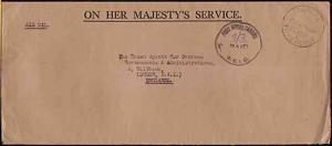GILBERT & ELLICE IS 1963 cover with POST OFFICE TARAWA PAID cds to USA