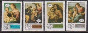1983 St. Lucia Scott # 629-632 Christmas MNH