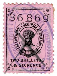 (I.B) Liverpool Corn Trade Association : Fee Stamp 2/6d