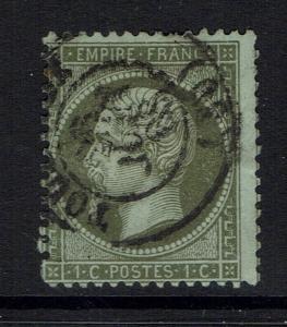 France SC# 22, Used, Hinge Remnant, Pinhole -  Lot 051517