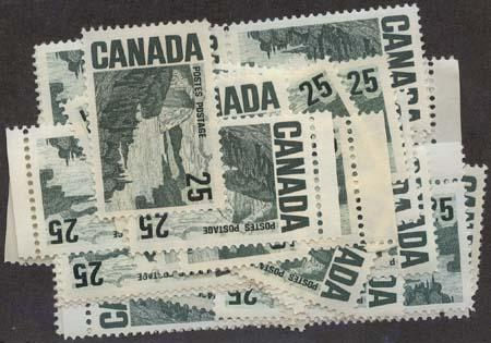 Canada USC #465 Mint (40) Inc. Blocks - From Many Sources F-VF-NH