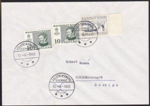 GREENLAND 1982 cover Holsteinsborg to Sweden...............................70227