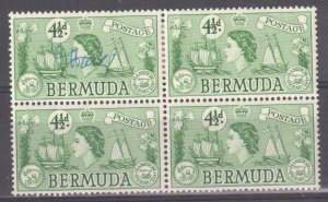 Bermuda 2NH-2LH VF Mint block of 4 with artist signature on UL stamp