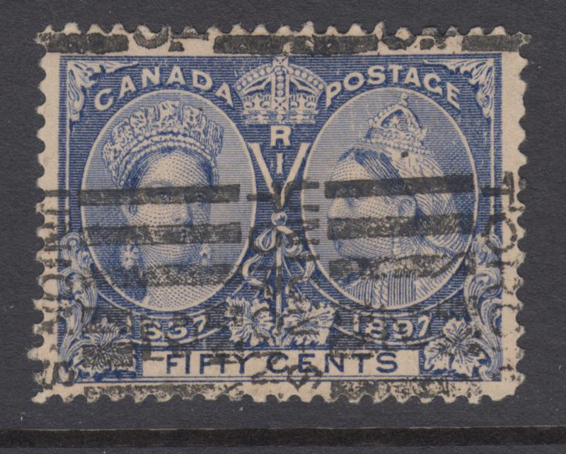 Canada Sc 60 used. 1897 50c ultra Jubilee