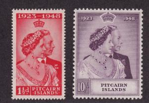 Pitcairn Is Scott # 11- 12 VF OG lightly hinged nice color cv $ 55 ! see pic !
