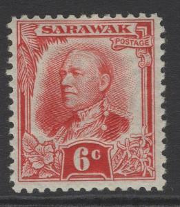 SARAWAK SG96 1932 6c SCARLET MTD MINT