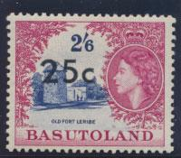 Basutoland  SG 66   Mint  Very Light Hinge trace  - Opt surcharge Type I